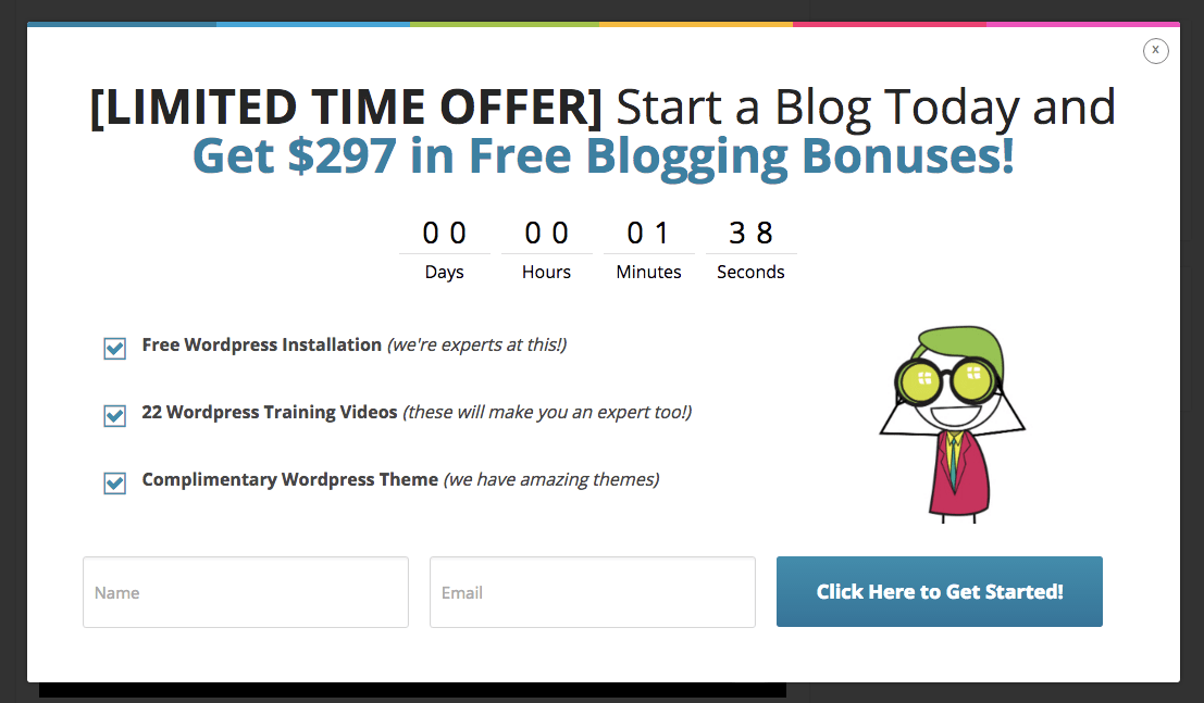 Limited time offer using countdown