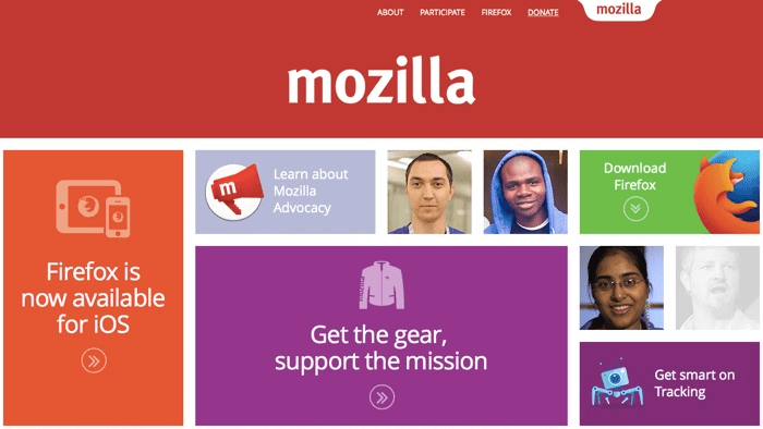 Mozilla's homepage
