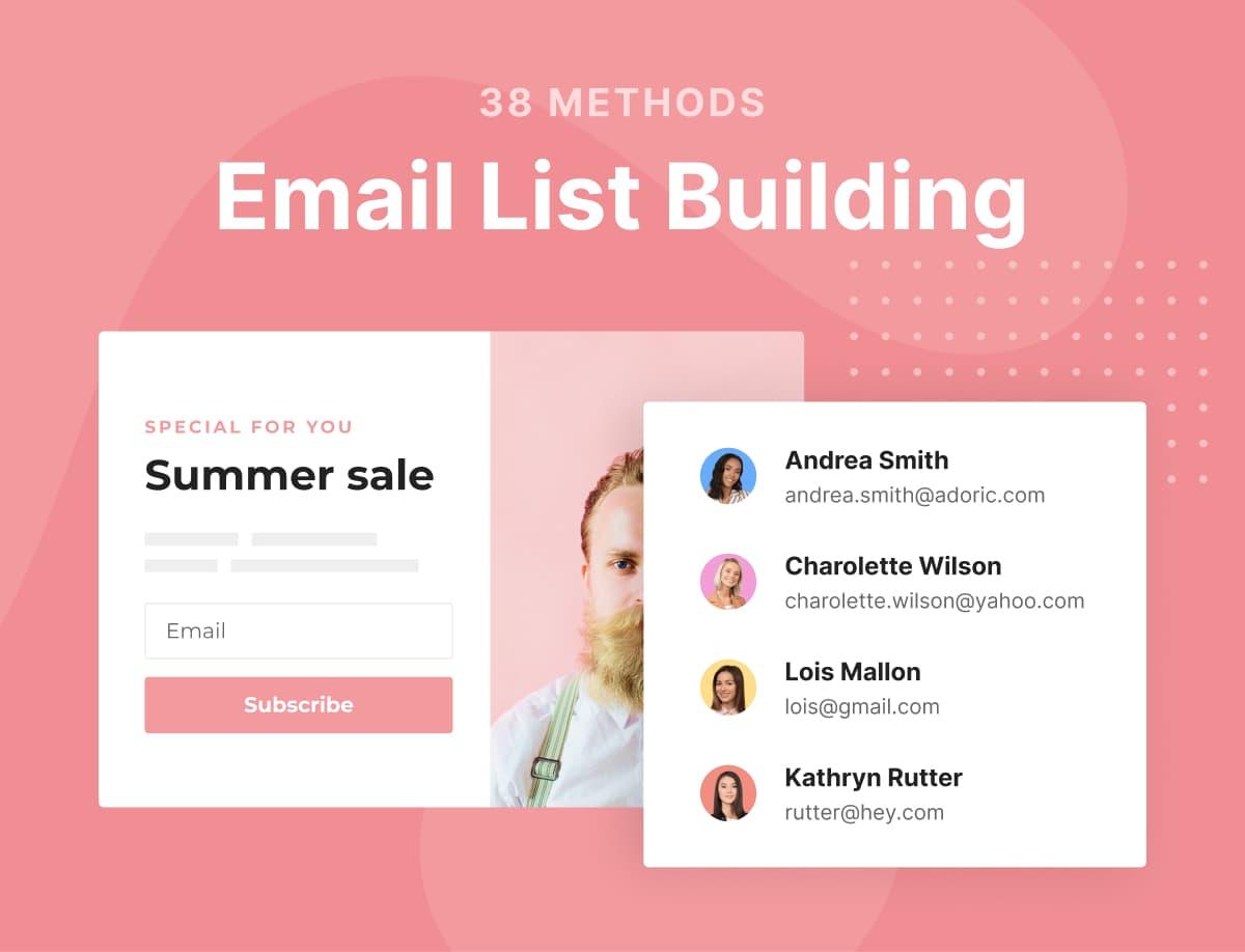 38 Email list building methods