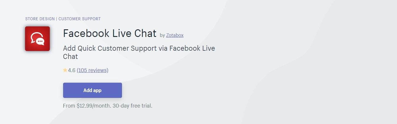 Facebook Live Chat - Best Shopify App