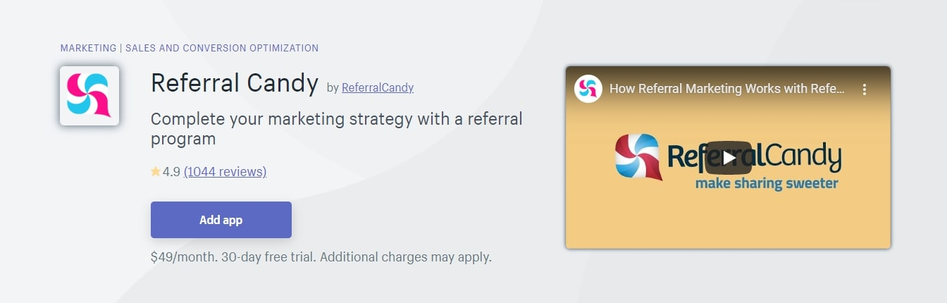 Referral Candy Shopify App