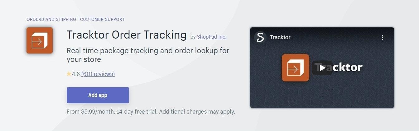 Tracktor Order Tracking