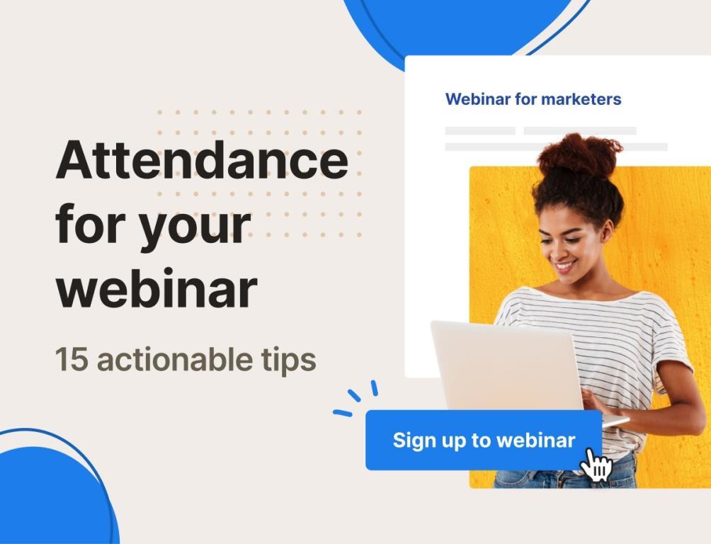 Webinar promotion
