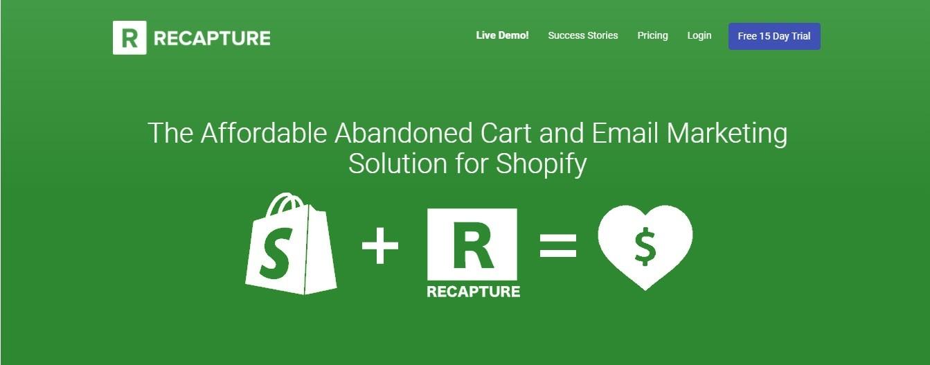 Recapture cart abandonment solution
