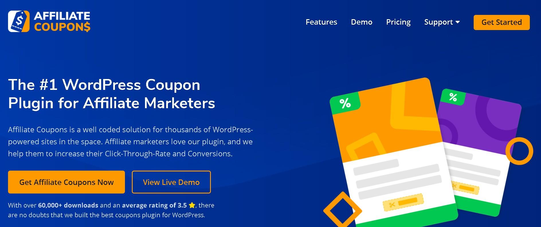 Affiliate coupon plugin