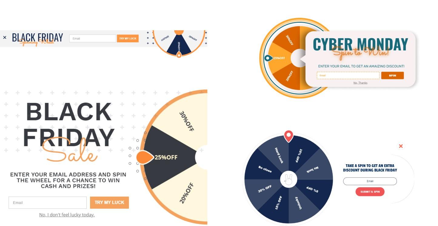 coupon wheel popup templates